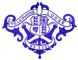 Lodge badge from scan of printers block